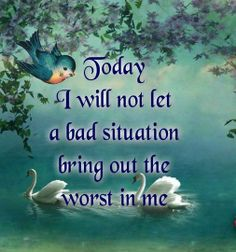 Today I will not let......