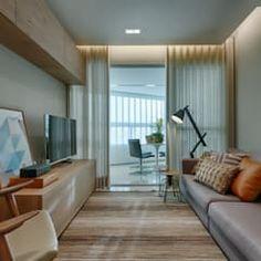 Sala De Estar com Varanda : Salas de estar modernas por Renata Basques Arquitetura e Design de Interiores