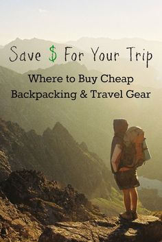 Where to buy really cheap outdoor + travel gear! Pin this post to save money on everything on your packing list. Find backpacking & travel gear, outdoors, athletic, sports, and camping gear.