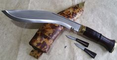 "World War II Dehradune Gurkha Khukuri Khukri Kukrri Kukri 11""  Wood Handle"