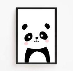 Vente 50 % de réduction - bébé ours Panda noir et blanc (imprimable Art bébé chambre Téléchargement instantané pour enfants affiche numérique impression filles mignon Animal par PlanetB612Design sur Etsy https://www.etsy.com/fr/listing/521268035/vente-50-de-reduction-bebe-ours-panda