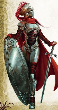 f Paladin Fantasy Character Art for your DND Campaigns Fantasy Warrior, Fantasy Rpg, Medieval Fantasy, Fantasy Artwork, Woman Warrior, Final Fantasy, Fantasy Queen, Old Warrior, Fantasy Art Women