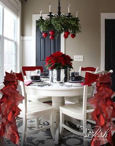 These gorgeous, deep burgundy Christmas chair sashes has become our best-selling style! What a terrific way to make your house fun & festive! Each Christmas chair sash has a total of 14 satin & organza ruffles in burgundy to add the finishing touch t Noel Christmas, Christmas Wreaths, Christmas Crafts, Cheap Christmas, Nordic Christmas, Christmas Music, Outdoor Christmas, Christmas Movies, Decoration Table