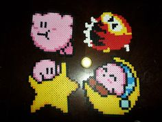 KIRBY // DIGDUG // 8-Bit Melty Bead Pixel Sprites // LARGE // nes Nintendo