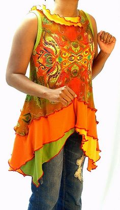 Rust, Orange & Green Tunic | Flickr - Photo Sharing!