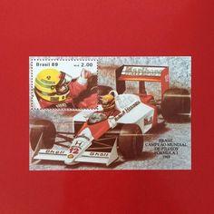 Brasil Campeão Mundial de Pilotos de Fórmula 1 [1989]  Designer: Martha Poppe  #stampcollector #sendmoremail #postage #stamp #stamps #vintagestamps #philately #philategram #philatelic #philatelist #brazilianstamps #filatelia #selos