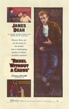 """Rebel Without a Cause (1955)~I woke up this morning, you know... and the sun was shining, and it was nice, and all that type of stuff. And the first thing, I saw you, and, uh, I said, """"Boy, this is gonna be one terrific day, so you better live it up, because tomorrow you'll be nothing."""" You see? And I almost was."""