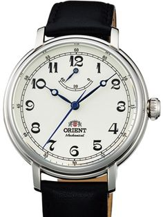 Orient Monarch Hand Winding Watch with White Dial and Power Reserve Indicator #DD03003Y
