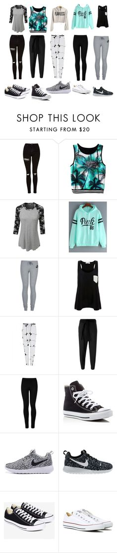 """""""Untitled #50"""" by zara-10 on Polyvore featuring Topshop, LE3NO, NIKE, Solid & Striped, sass & bide, Brunello Cucinelli, Wolford and Converse"""