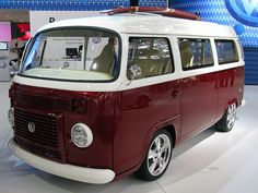 """VW Kombi Surf    This single-unit edition was made to commemorate the 50th year of assembly of the """"Old Lady"""" in Brazil and it was exposed at São Paulo Auto Show 2008. The standard version of the Type2 T2 Kombi is still produced here using the modern EA-111 1.4L capable to run on gasoline and/or ethanol that replaced the iconic aircooled boxer 1.6 in 2005."""