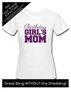 1b8a00b52 Birthday Girl's Mom with Script Writing Shirt - Personalize the Colors -  Birthday Party Matching Shirts by MagicalMemoriesbyJ on Etsy