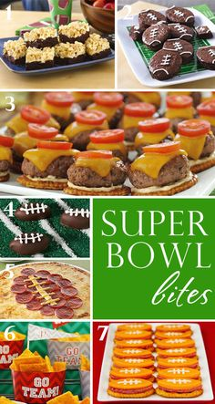 Super Bowl party bites ~ savory and sweet recipes ~ plus free stadium printables