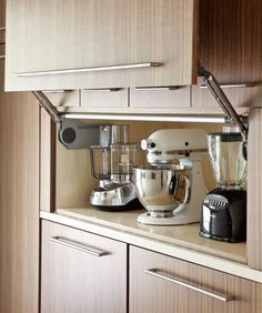 appliances on pull out shelves - Google Search