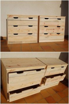 Having a set chest of drawers in your house will always keep your protective from having a giant structure of the storage cupboards. Creating a chest of drawers with the wood pallet is one of the favorable ideal option for you. You will arrange the quantity of the chest of drawers according to your demands and needs.