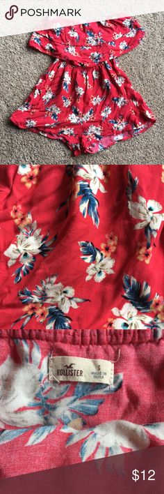 f7bced748b9 SUPER CUTE Hollister Vintage Floral Print Romper Only worn a few times!  Super cute tube top romper