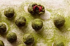 Matcha powder is finely ground green tea and these no-bake balls are sugar-free and rich in antioxidants.