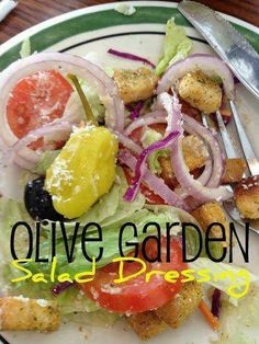OLIVE GARDEN SALAD DRESSING Omg, I love Olive Garden Salads!!! This is a must try!!! Make sure you Pinit it so you don't lose this one!  ■1/2 C. mayonnaise  ■1/3 C. white vinegar  ■1 tsp. vegetable oil  ■2 Tbsp. corn syrup  ■2 Tbsp. Parmesan cheese  ■2 Tbsp. Romano cheese  ■1/4 tsp. garlic salt  ■1/2 tsp. Italian seasoning  ■1/2 tsp. parsley flakes ■1 Tbsp. lemon juice