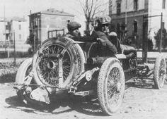 Targa Florio 1923 , Alfa Romeo RL TF #14 ,  Driver Enzo Ferrari .