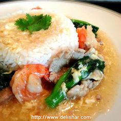 Delishar: One woman's kitchen adventure : Mui Fan (Rice in Thick Savoury Gravy)