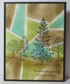 Created with Stampin' Up! supplies: Lovely as a Tree stamp set, Create a Cupcake stamp set, ink, sponges,