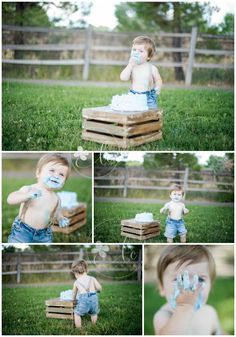Lauren Cherie Photography | 1 year old pictures | 1 year boy pictures | cake… Tap the link now to find the hottest products for your baby!