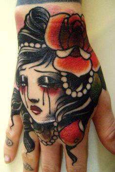 Girl Hand tattoo