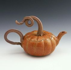 I want this so badly! I have a sugar pot made by Mr. Bauman in this pumpkin style and it is SO AMAZING. Really beautiful work. He doesn't have any of these listed right now in his etsy shop, baumanstonewear, but he'd probably be able to make them on request. They run about $80 and are so worth it.