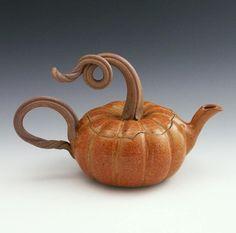 pumpkin tea pot