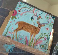 "Deer by Bari J. 24"" acrylic on canvas #art #painting #barijdesigns"