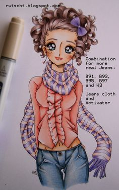 Copic Marker Europe: Coloring Jeans Tutorial