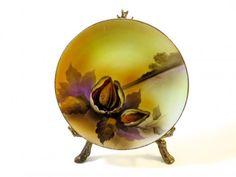 Vintage Noritake Nut Plate Cabinet Plate  1920's Porcelain Almond Nut Pattern…