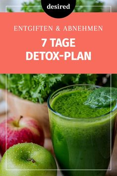 Die perfekte Detox-Kur: Abnehmen in 7 Tagen To eat unhealthy? Then it's time for a week detox. weight Detox Diet – Detox Cure with Recipes for 7 Days andMEAL PREP for 5 days Detox Diet Drinks, Detox Juice Recipes, Smoothie Detox, Healthy Smoothies, Detox Juices, Cleanse Recipes, Diet Recipes, Smoothie King, Shake Recipes