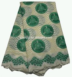 Check out this product on Alibaba.com App:Green White Embrodiery Stones Voile Lace Fabric, African Wedding Dress Dry Lace Fabric In Switzerland, 100�otton LaceXZ34660c https://m.alibaba.com/VnE7zy