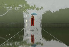I just like the rain. by PascalCampion on DeviantArt