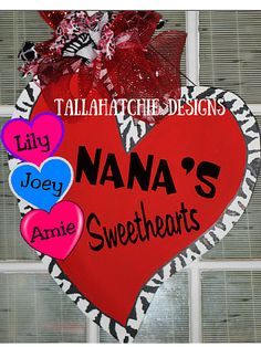 Valentine's Day Door Hanger Wood Valentine by TallahatchieDesigns
