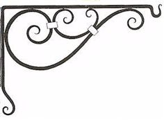 Wrought Iron Shelf Brackets - but in a lighter colour. Don't want the interior too dark!
