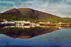 Stretched Canvas Print of Talknafjordur Harbour by ArtbyOlafur, $85.00