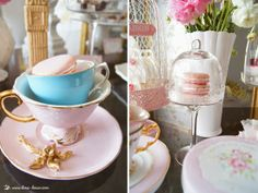 the macarrons for this shabby chic tea party