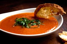 NYT Cooking: Puréed Tomato and Red Pepper Soup