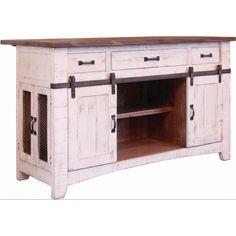 International Furniture Direct Pueblo Kitchen Island