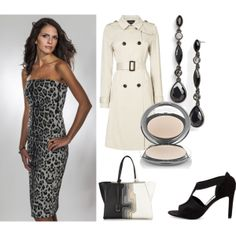 """""""Sophisticated Style in Perlae Leopard Print"""".  Get sophisticated style this spring with Perlae Couture's Leopard Cocktail Dress. Incredibly comfortable and versatile, this cocktail dress looks great with a pair of black Balenciaga sandals, a stylish John Lewis trench and a leather fendi shopper. Accessorize with these black Givenchy teardrop linear earrings and complete your look with the Chantecaille HD Perfecting Powder!  #LeopardPrint #dress #springfashion"""