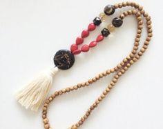 Borla collar collar de perlas collar largo por AllGirlsneed