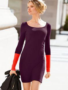 Ribbed Colorblock Dress / Victoria's Secret