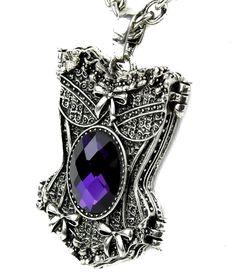 Purple Stone Corset Gothic Necklace Design