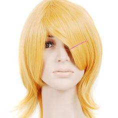 Amazon.com: Strawberry Blonde Shorth Shoulder Length Anime Cosplay Wig Costume: Clothing
