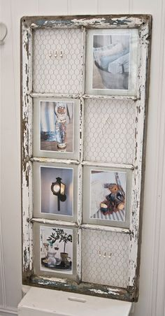 LOVE this use of an old window!
