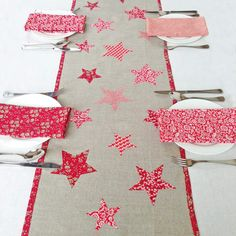 Create a simply stunning Liberty Christmas table  Make our beautiful table runner in time to make your Christmas table look gorgeously festive.  Our brand new 'Christmas table runner kit' includes everything you need for this fabulous table centrepiece - combine festive Liberty colours which contrast beautifully with a classic linen background.