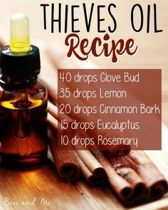 Save BIG by blending your own Thieves Oil! Here's the recipe + 5 common uses for this popular germ-fighting essential oils blend. by jenna