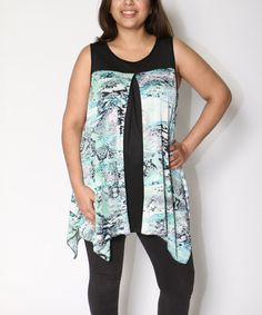Look what I found on #zulily! Blue Snake Asymmetrical Tunic - Plus #zulilyfinds