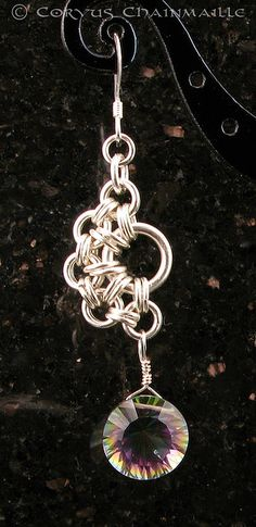 Cool chainmaille earring